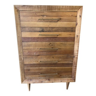 West Elm Alexa Reclaimed Wood 5-Drawer Dresser For Sale