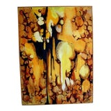 Image of Abstract Mixed Media Painting by LeVa For Sale
