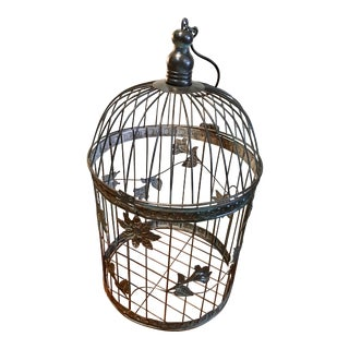 Black Iron Botanical Birdcage