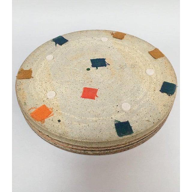 Ceramic Tue Poulsen Danish Modern Large Stoneware Studio Pottery Tray For Sale - Image 7 of 10