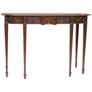 19th Century English Traditional Mahogany Console For Sale