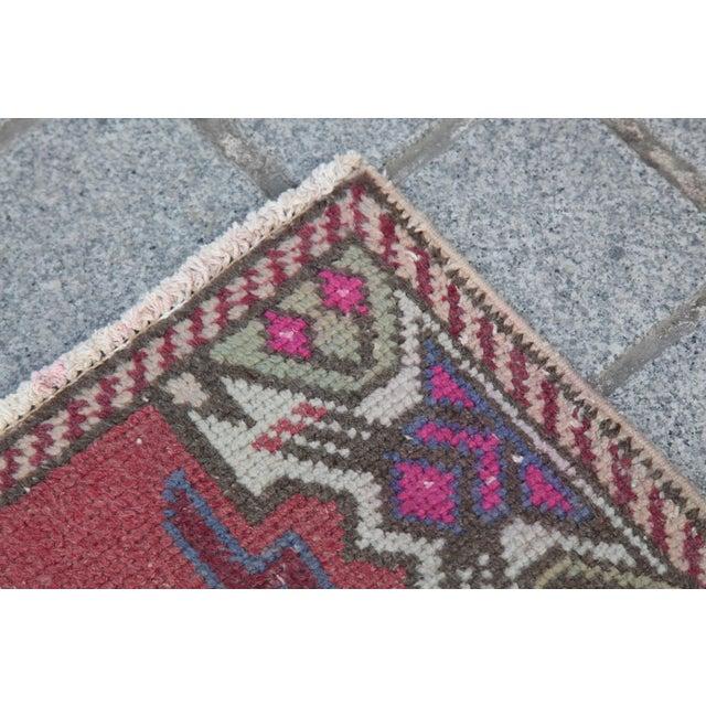 Antique Turkish Carpet - 1′6″ × 3′1″ - Image 6 of 11