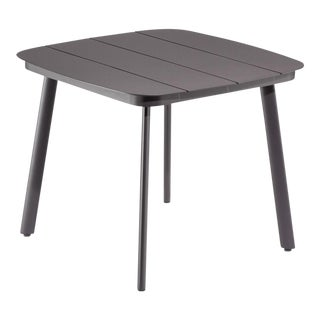 "36"" Square Outdoor Dining Table, Carbon For Sale"