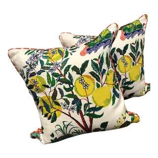 Schumacher Citrus Garden Pillows - A Pair