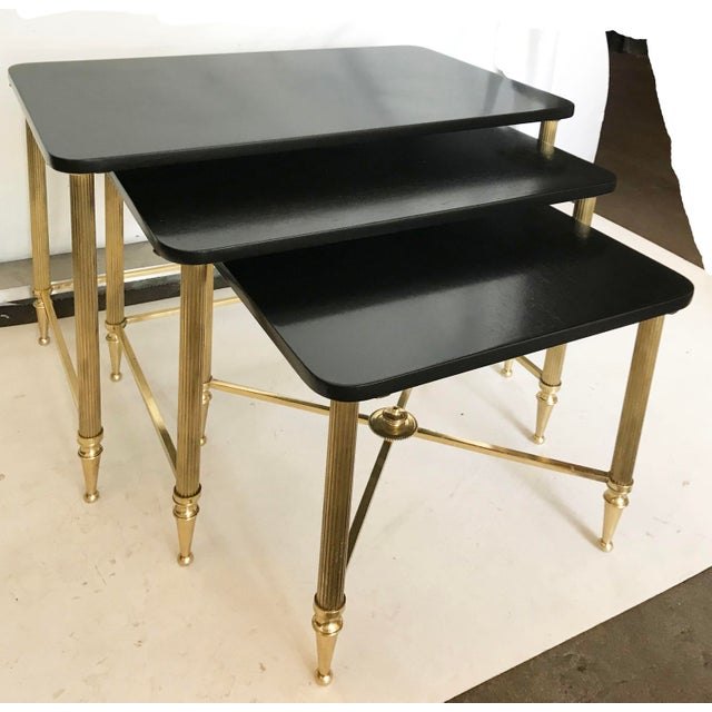 Vintage Maison Lancel Nesting Table - Set of 3 For Sale In Miami - Image 6 of 6