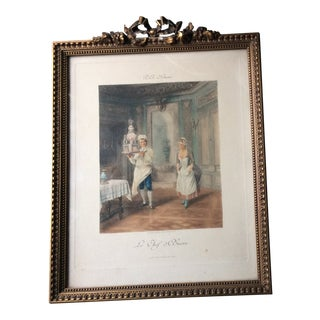 """Antique Framed French """"Le Chef d'Oeuvre"""" Print For Sale"""