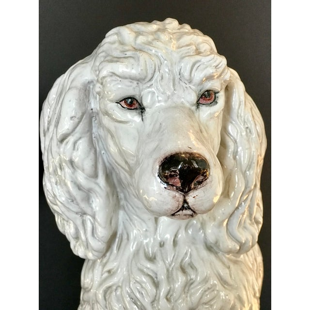 Italian Vintage Italian Mid-Century Ceramic Poodle Figurine For Sale - Image 3 of 9