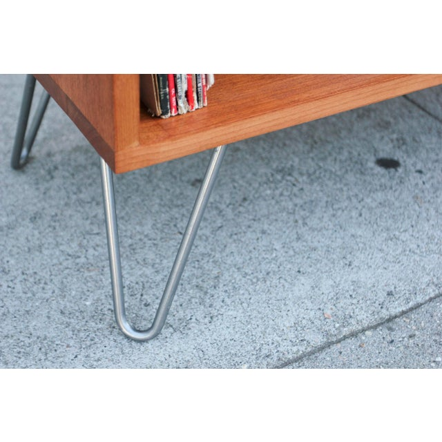Mid-Century Modern Solid Wood Hair Pin Leg Credenza For Sale - Image 10 of 12