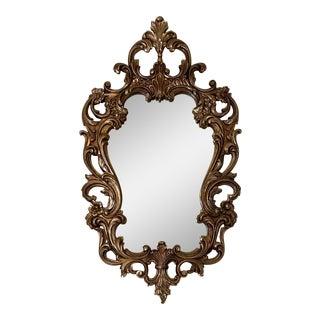 1960s Vintage Syroco Hollywood Regency Rococo Wall Mirror For Sale