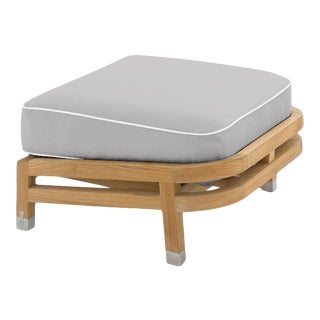 Linley Footrest in Fashionable Grey with Nice White Welt For Sale