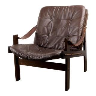 1960s Scandinavian Modern Torbjørn Afdal for Bruksbo Hunter Lounge Chair For Sale