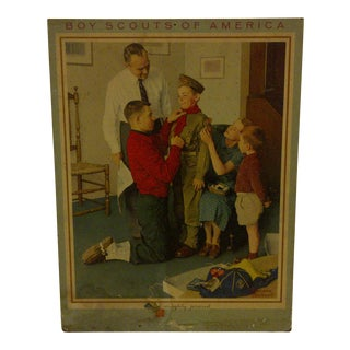 "Vintage Norman Rockwell Print of ""Boy Scouts of America"" For Sale"