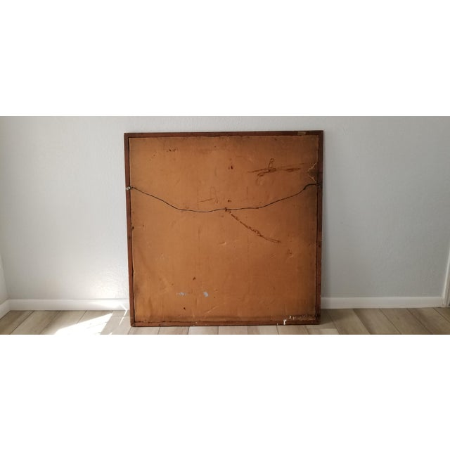 1960's Large Vintage Abstract Valenti Mixed Media Collage Wall Art For Sale - Image 10 of 11