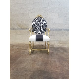 1950s Antique Victorian Black and White Chair Preview