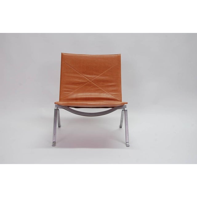 1960s 1960s Vintage Early Poul Kjaerholm Pk22 Lounge Chair For Sale - Image 5 of 8