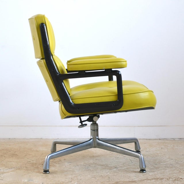 Green Eames Time-Life Chair with Green Leather by Herman Miller For Sale - Image 8 of 10