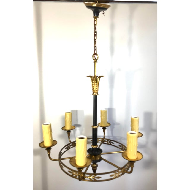 1920s French Empire Style Chandelier For Sale - Image 9 of 9