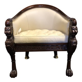 English Traditional Baker Stately Homes Collection Lion Pull Up Chair For Sale