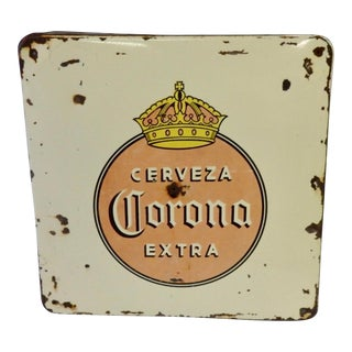 Corona Beer Porcelain Advertising Sign For Sale