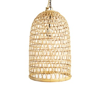 Bamboo Fish Basket Lantern Small