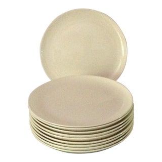Taylor Smith Taylor Versatile Plain White Dinner Plates 10 1/4 -Set of 10 For Sale