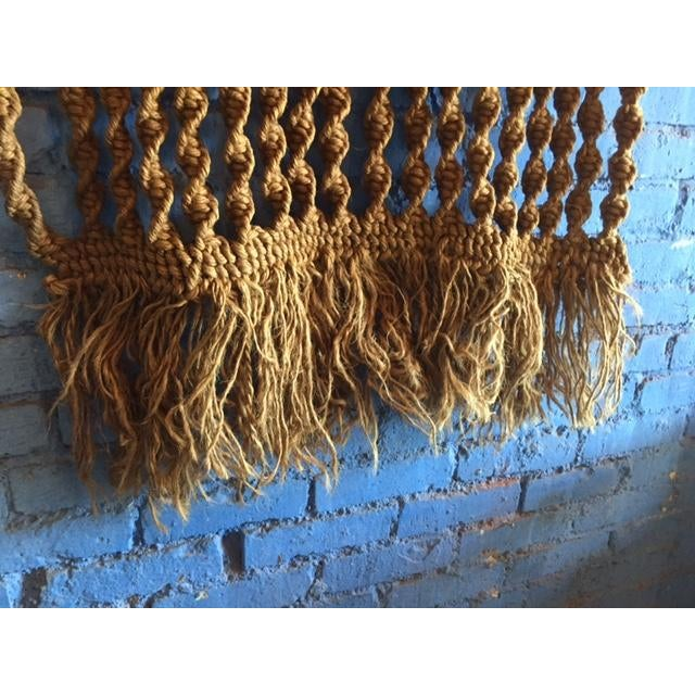 Vintage Large Weave Woven Art Wall Hanging - Image 6 of 8