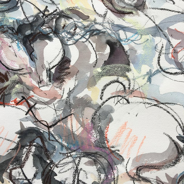 """This mixed media sketch is part of a series of works inspired by the painting """"The Battle of Anghiari"""" or """"The Lost..."""