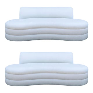 Curved Couches After Vladimir Kagan - a Pair For Sale