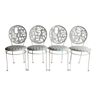 Woodard Mid-Century Garden Chairs - Set of 4 For Sale