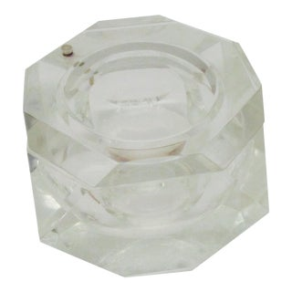 Alessandro Albrizzi Faceted Lucite Swivel Top Ice Bucket For Sale