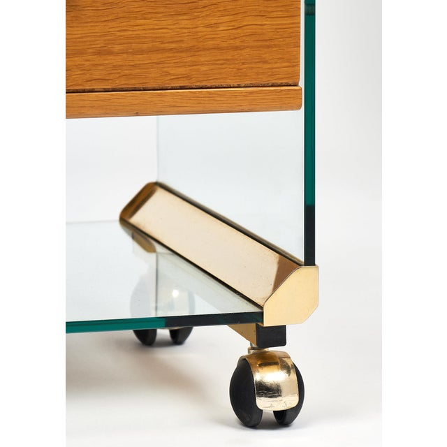 Brass and Glass Modernist Side Table For Sale - Image 9 of 10