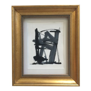 Abstract Charcoal Gray and Black For Sale
