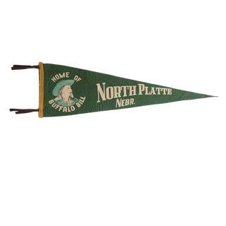 Vintage North Platte Nebr. Felt Flag Pennant
