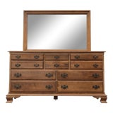 Image of Solid Maple Ethan Allen Heirloom Dresser & Mirror For Sale