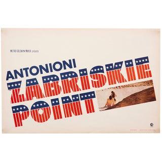 """Vintage 1970 """"Zabriskie Point"""" Michelangelo Antonioni film poster"""