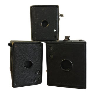 Set of Antique Box Cameras - Set of Three