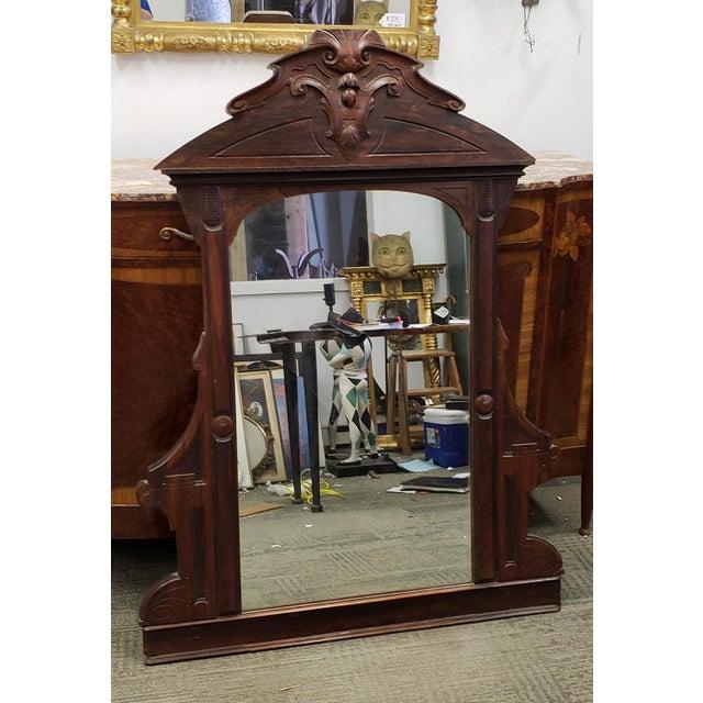 Antique Victorian Eastlake Style Rosewood Bedroom Dresser Mirror C1880 For Sale - Image 9 of 9
