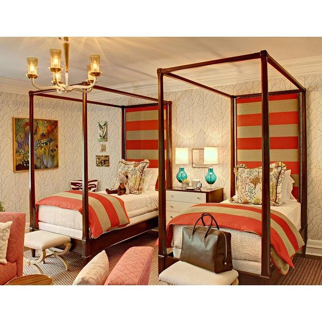 Wondrous Custom Upholstered Hickory Chair Four Poster Twin Bed Chairish Uwap Interior Chair Design Uwaporg