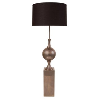 Philippe Barbier Nickel Plated Floor Lamp From Paris For Sale