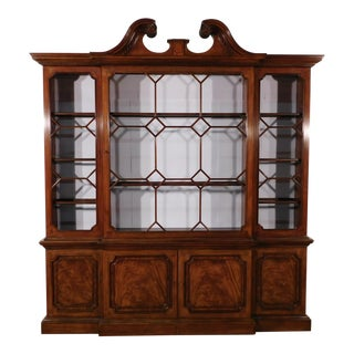 Baker Stately Breakfront Bookcase