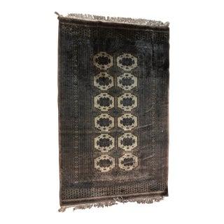 Hand Woven Persian Silk & Wool Isfahan Rug - 4′ × 6′5″