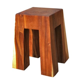 Americana Style Solid Wood Bell Stool For Sale
