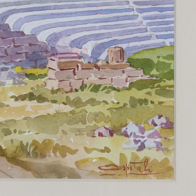 Late 20th Century Vintage Italian Watercolor of Fiesole For Sale - Image 5 of 8