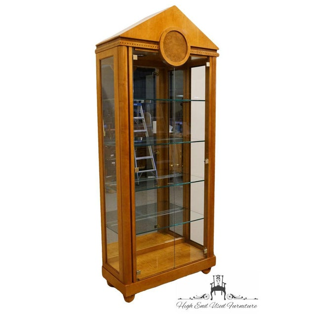 Asian Hickory White Genesis Collection Curio Cabinet For Sale - Image 3 of 7