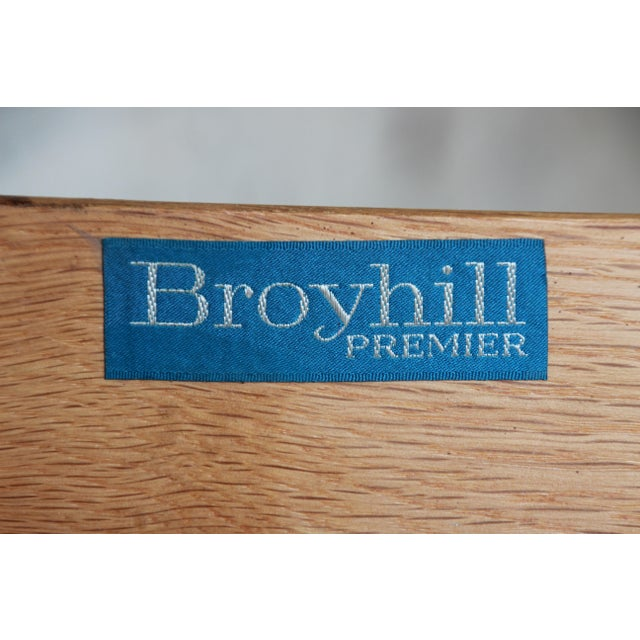 Broyhill Emphasis Mid-Century Modern Sculpted Walnut Triple Dresser Credenza For Sale - Image 11 of 12