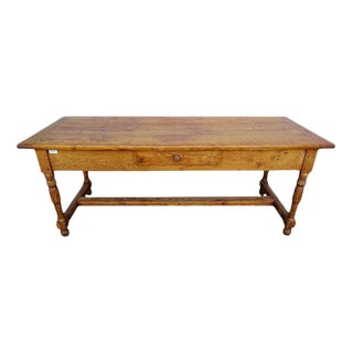 Antique Solid Ash Wood French Provincial Farm Table, Early 1900s