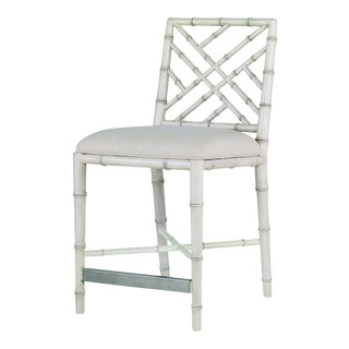Century Furniture Brighton Counter Stool, Antique White/Flax For Sale