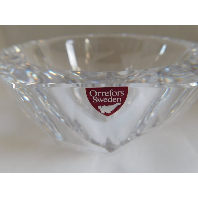 Contemporary Orrefors Sweden Small Cut Crystal Bowl For Sale - Image 3 of 12