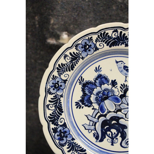Vintage Delft Plates - Set of 4 For Sale - Image 4 of 5