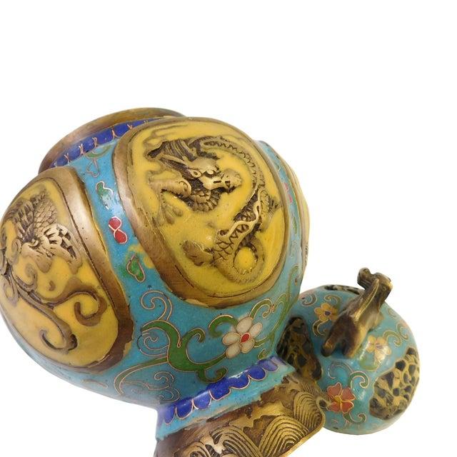 Vintage Chinese Metal Enamel Cloisonne Burner For Sale In San Francisco - Image 6 of 7